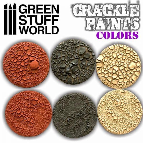 Green Stuff World   Specialist Paints Crackle Paint - Martian Earth 60ml - 8436574501766ES - 8436574501766