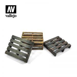 Vallejo   Vallejo Scenics Vallejo Scenics - Scenery: Wooden Pallets - VALSC233 - 8429551987189
