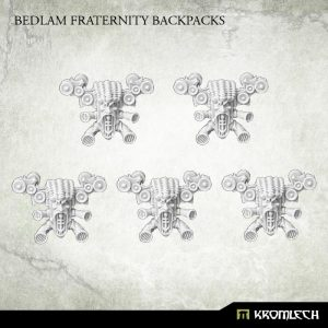 Kromlech   Heretic Legionary Conversion Parts Bedlam Fraternity Backpacks (5) - KRCB193 - 5902216115897