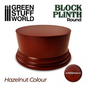 Green Stuff World   Display Plinths Round Block Plinth 10cm - Hazelnut - 8435646500614ES - 8435646500614