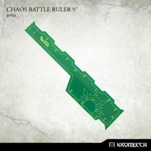 Kromlech   Tapes & Measuring Sticks Chaos Battle Ruler 9in [green] (1) - KRGA054 - 5902216116559