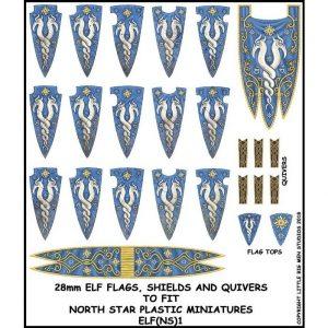 North Star Oathmark  Oathmark Elf Banner and Shields 1 - ELF(NS)1 -