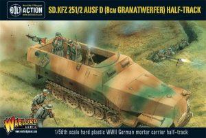 Warlord Games (Direct) Bolt Action  Germany (BA) German Sd.Kfz 251/2 Ausf D (8cm Granarwerfer) Half Track - WGB-WM-515 - 5060393703228