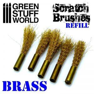Green Stuff World   Rolling Pins Scratch Brush Set Refill – Brass - 8436574500103ES - 8436574500103