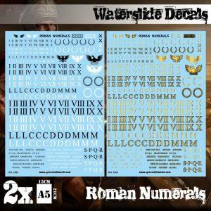 Green Stuff World   Decals Waterslide Decals - Roman Numerals - 8436574509519ES - 8436574509519