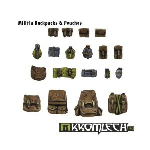 Kromlech   Imperial Guard Conversion Parts Militia Backpacks and Pouches - KRCB083 - 5902216110816