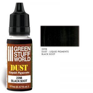 Green Stuff World   Liquid Pigments Liquid Pigments BLACK SOOT - 8436574506570ES - 8436574506570