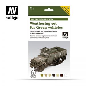 Vallejo   Paint Sets AV Armour Set - AFV Weathering For Green Vehicles - VAL78406 - 8429551784061
