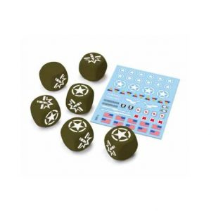 Gale Force Nine World of Tanks: Miniature Game  SALE! World of Tanks U.S.A. Dice & Decal Set - WOT11 - 9781947494367