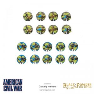 Warlord Games (Direct) Black Powder Epic Battles  Black Powder Epic Battles Black Powder: American Civil War Casualty Markers - 315114011 - 5060572509337