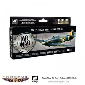 Vallejo Blood Red Skies  Paint Sets FAA (Fleet Air Arm) Colors 1939-1945 - VAL71147 - 8429551711470