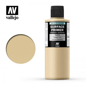Vallejo   Model Air Primers AV Polyurethane - Primer Desert Tan Base 200ml - VAL74613 - 8429551746137