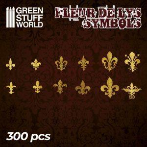 Green Stuff World   Etched Brass Etched Brass Fleur de Lys Symbols - 8436574504712ES - 8436574504712