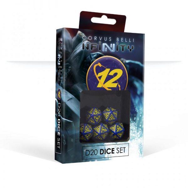 Q-Workshop Infinity  O-12 O-12 D20 Dice Set - 285063 - 2850630000004