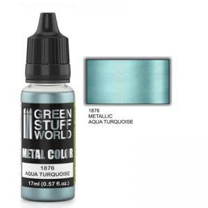 Green Stuff World   Acrylic Metallics Metallic Paint AQUA TURQUOISE - 8436574502350ES - 8436574502350
