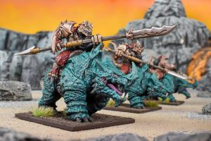 Mantic Kings of War  Salamanders (KoW) Rhinosaur Cavalry Regiment - MGKWS404 - 5060469667102