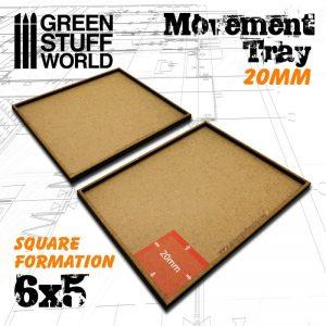 Green Stuff World   Movement Trays MDF Movement Trays 20mm 6x5 - 8436574502916ES - 8436574502916