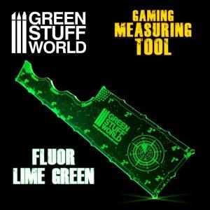 Green Stuff World   Tapes & Measuring Sticks Gaming Measuring Tool - Fluor Lime Green - 8435646500768ES - 8435646500768