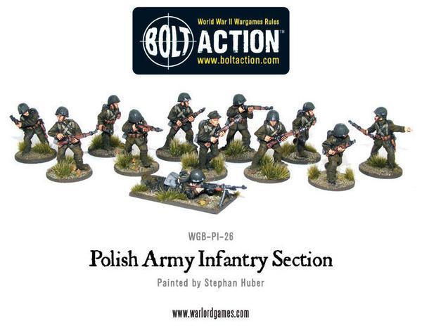 Warlord Games Bolt Action  Poland (BA) Polish Infantry (24) - WGB-PI-01 -