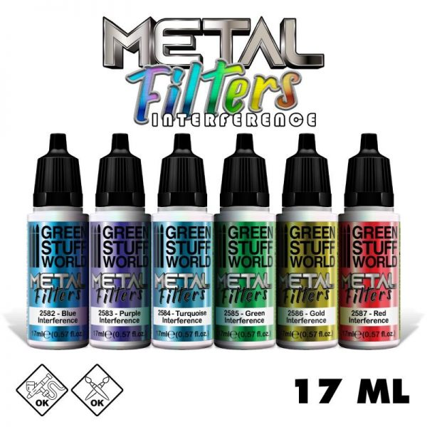Green Stuff World   Specialist Paints Set Metal Filters - Interference Colours - 8436574506280ES - 8436574506280
