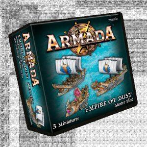 Mantic Kings of War Armada  Empire of Dust Empire of Dust Starter Fleet - MGART101 - 5060469666501