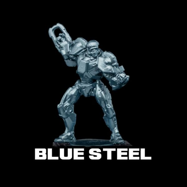 Turbo Dork   Turbo Dork Blue Steel Metallic Acrylic Paint 20ml Bottle - TDBSTMTA20 - 631145994451