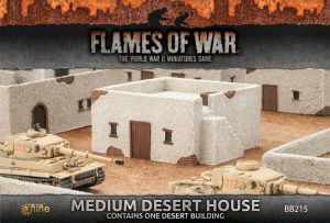 Gale Force Nine   Battlefield in a Box Flames of War: Medium Desert House - BB215 - 9420020234888