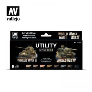 Vallejo   Model Colour AV Vallejo Model Color Set - Utility paint set (8) - VAL70201 - 8429551702010