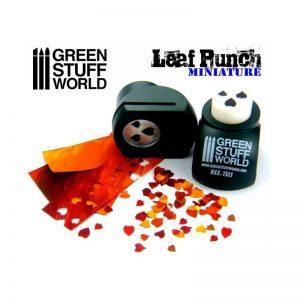 Green Stuff World   Stamps & Punches Miniature Leaf Punch DARK GREEN - 8436554363117ES - 8436554363117