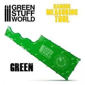 Green Stuff World   Tapes & Measuring Sticks Gaming Measuring Tool - Green - 8435646501000ES - 8435646501000