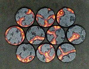 Baker Bases   Lava Lava: 32mm Round Bases (10) - CB-LV-01-32M - CB-LV-01-32M