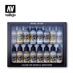 Vallejo   Paint Sets AV Vallejo Model Air Set - USAAF Aircraft Set (x16) - VAL71185 - 8429551711852