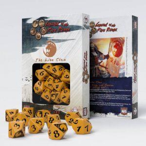 Q-Workshop   Q-Workshop Dice Legend of the Five Rings Lion Clan 10D10 Dice (10) - SL5R59 - 5907699492305