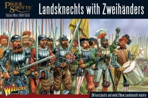 Warlord Games Pike & Shotte  Italian Wars 1494-1559 Landsknechts with Zweihanders - 202016002 - 5060393709466