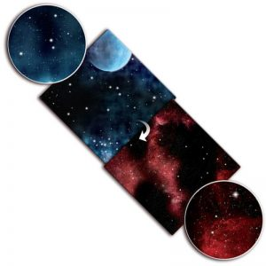 Gale Force Nine   Tabletop Gaming Mats Gaming Mat: Frozen Planet/Fiery Nebula - BB952 - 9420020239807