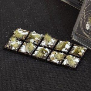 Gamers Grass   Battle-ready Winter Bases Winter Square 20mm (x10) - GGB-WSq20 -