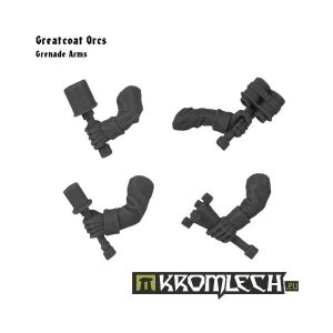Kromlech   Orc Conversion Parts Greatcoats Grenade Arms - KRCB107 - 5902216111059