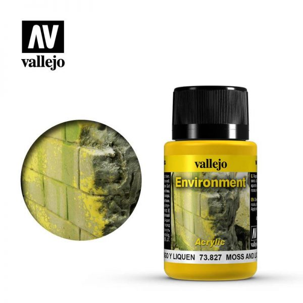 Vallejo   Weathering Effects Weathering Effects 40ml - Moss and Lichen Effect - VAL73827 - 8429551738279