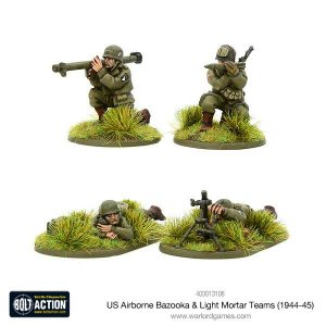 Warlord Games Bolt Action  United States of America (BA) US Airborne Bazooka & Light Mortar teams (1944-45) - 403013106 - 5060393709855