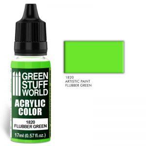 Green Stuff World   Acrylic Paints Acrylic Color FLUBBER GREEN - 8436574501797ES - 8436574501797