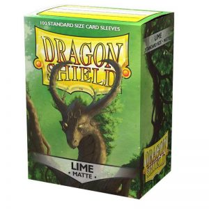 Dragon Shield   Dragon Shield Dragon Shield Sleeves Matte Lime (100) - DS100ML - 5706569110383
