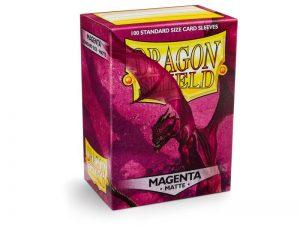 Dragon Shield   Dragon Shield Dragon Shield Sleeves Matte Magenta (100) - DS100MMAG - 5706569110260