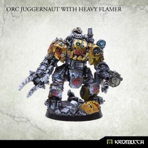 Kromlech   Orc Model Kits Orc Juggernaut with Heavy Flamer - KRM023 - 5902216111486