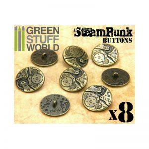 Green Stuff World   Costume & Cosplay 8x Steampunk Buttons WATCH MOVEMENTS - Bronze - 8436554367405ES - 8436554367405