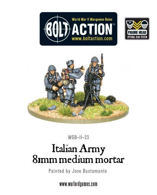 Warlord Games Bolt Action  Italy (BA) Italian Army 81mm Medium Mortar Team - WGB-II-23 - 5060200849552