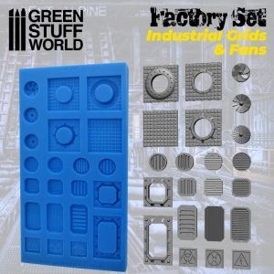 Green Stuff World   Mold Making Silicone Molds - Grids and Fans - 8436574504521ES - 8436574504521