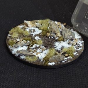 Gamers Grass   Battle-ready Winter Bases Winter Oval 120mm (x1) - GGB-WO120 -