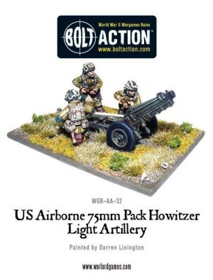 Warlord Games Bolt Action  United States of America (BA) US Airborne 75mm Howitzer & Crew - WGB-AA-22 -
