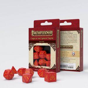Q-Workshop   Q-Workshop Dice Pathfinder Curse of the Crimson Throne Dice Set (7) - SPAT23 - 9781601251565