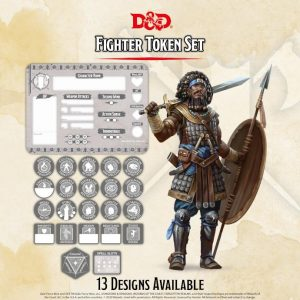 Gale Force Nine Dungeons & Dragons  D&D Extras D&D: Fighter Token Set (Player Board & 23 tokens) - GFN72509 - 9420020251151